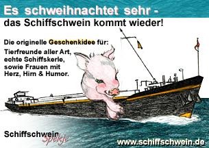 Es schweihnachtet sehr - das Schiffschwein kommt wieder!